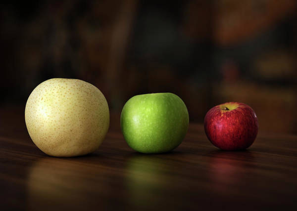 Yellow Photograph - Three Apples by Ming Thein / Mingthein.com