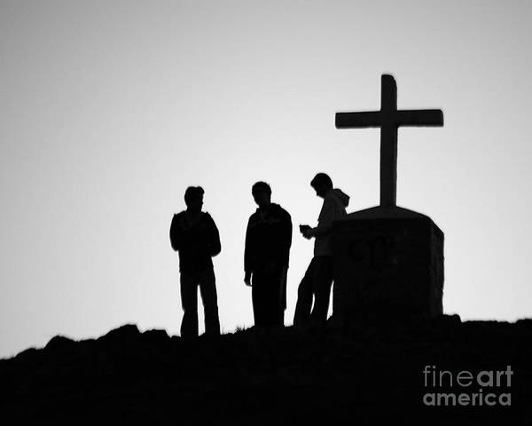 Photograph - Three At The Cross by PJ Boylan