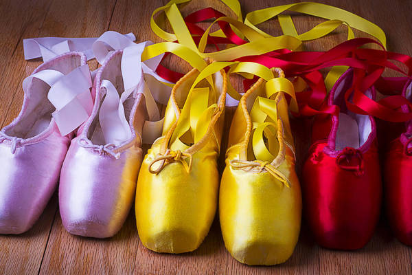 Wooden Shoe Photograph - Three Ballet Shoes by Garry Gay