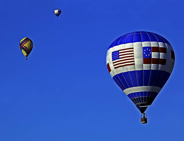 Photograph - Three Balloons by Andy Crawford