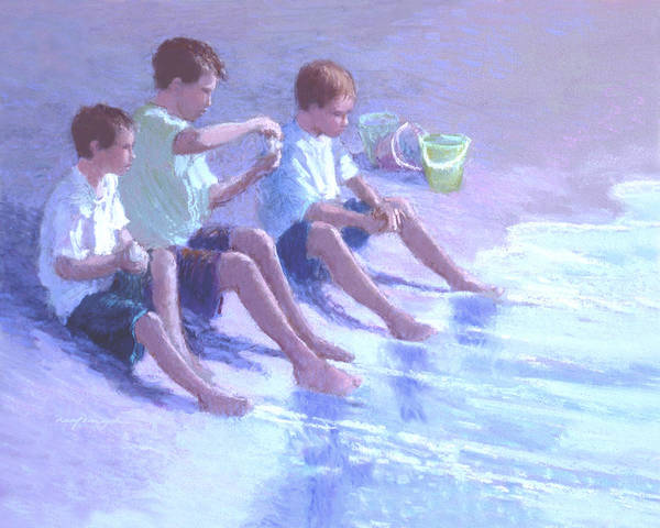 Three Beach Boys Art Print