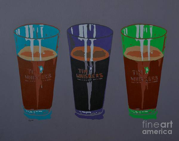 Painting - Three Beers by Laura Toth