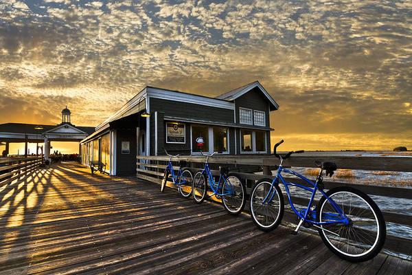 Photograph - Three Blue Bikes by Debra and Dave Vanderlaan