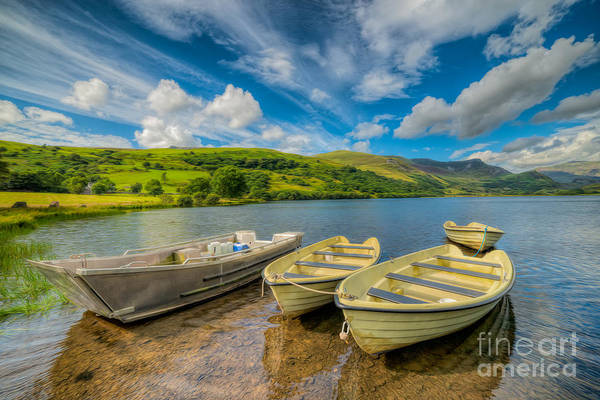 Moor Photograph - Three Boats by Adrian Evans