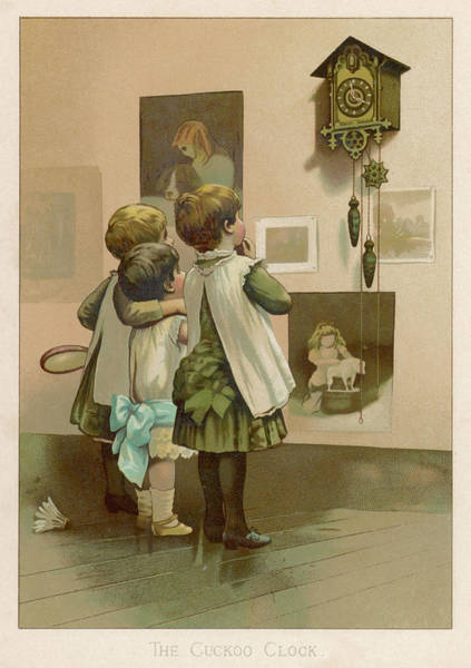 Cuckoo Drawing - Three Children Break by Mary Evans Picture Library
