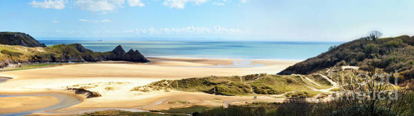 Photograph - Three Cliffs Bay by Paul Cowan