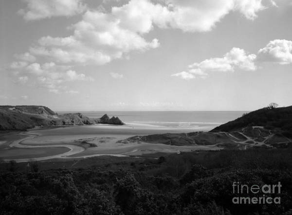 Photograph - Three Cliffs Bay by Paul Cowan