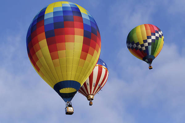 Photograph - Three Colorful Balloons by Wes and Dotty Weber
