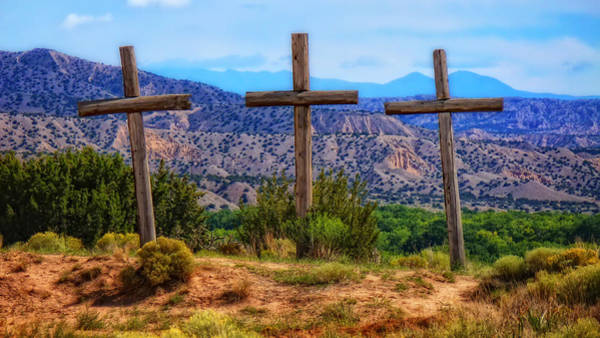 Photograph - Three Crosses by Ghostwinds Photography