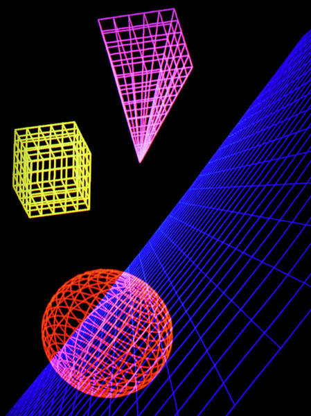 Wireframe Photograph - Three-dimensional Objects by Simon Fraser/mari/science Photo Library