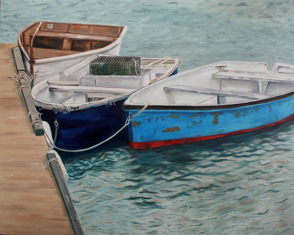 Painting - Three Dinghies by Jill Ciccone Pike
