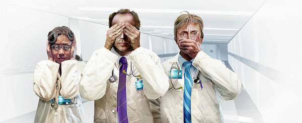 Ethical Standards Photograph - Three Doctors Hear No Evil, See No by Ikon Ikon Images