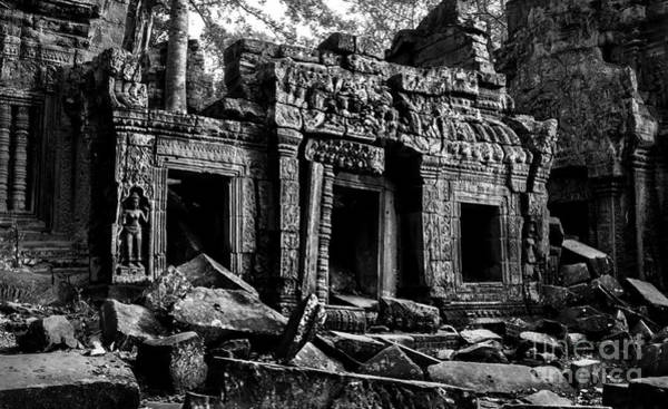 Photograph - Three Doorways At Ta Prohm by Julian Cook