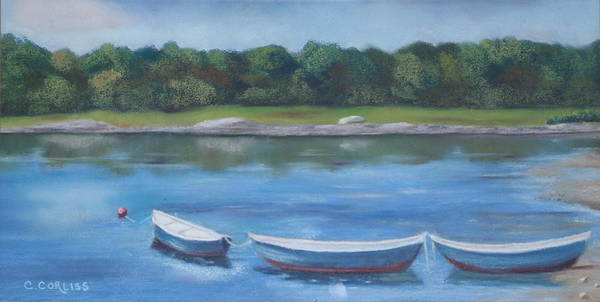 Pastel - Three Dories by Carol Corliss