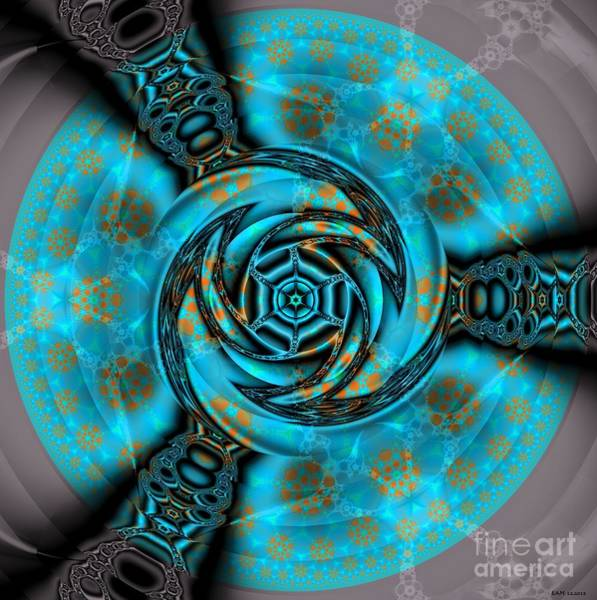 Wavelet Digital Art - Three Gates To The Fractal Pool by Elizabeth McTaggart