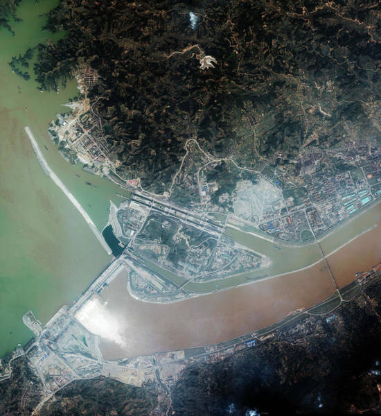 Wall Art - Photograph - Three Gorges Dam by Geoeye/science Photo Library