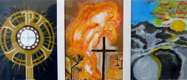 Holy Thursday Painting - Three Great Days by Ann Whitfield