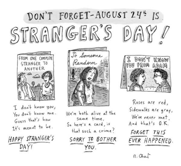 Celebration Drawing - Three Greeting Cards Are Shown To Celebrate by Roz Chast
