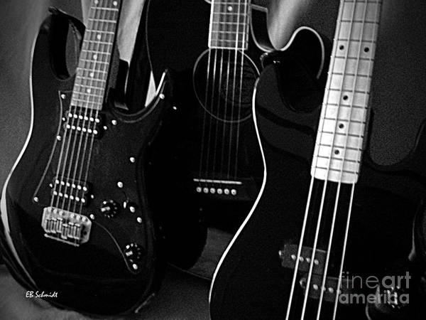 Photograph - Three Guitars by E B Schmidt