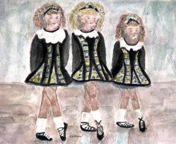 Three Irish Lasses Art Print