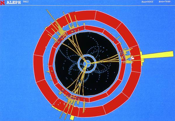 Wall Art - Photograph - Three-jet Event Detected By Aleph At Cern by Cern/science Photo Library