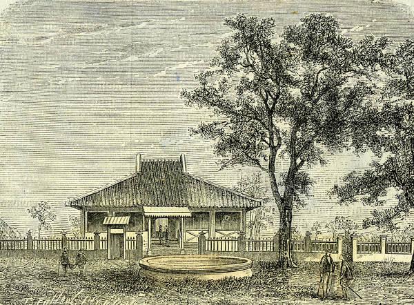 Vietnam Drawing - Three Kilometers From Saigon Vietnam 19th Century by English School