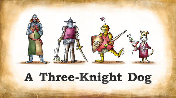 Digital Art - Three Knight Dog by Mark Armstrong