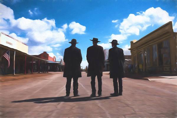 Photograph - Three Lawmen by Chris Bordeleau