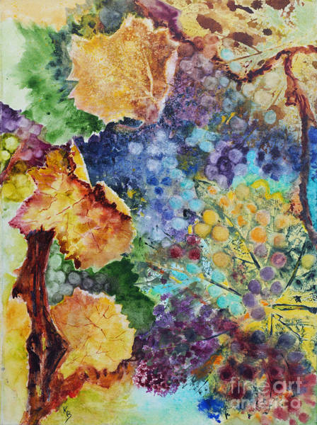 Painting - Three Leaves by Karen Fleschler