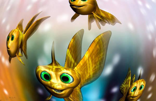Digital Art - Three Little Fishies And A Mama Fishie Too by Bob Orsillo