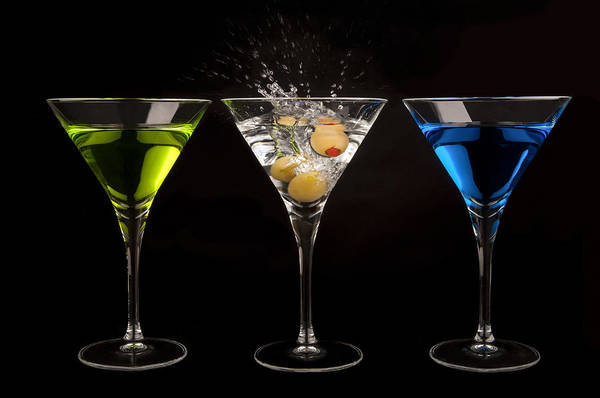 Cocktail Lounge Photograph - Three Martinis by Richard ONeil