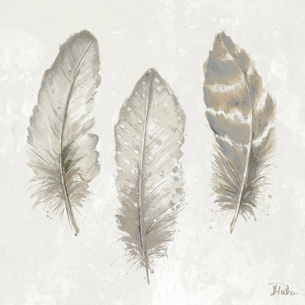 Wall Art - Digital Art - Three Modern Feathers II by Patricia Pinto