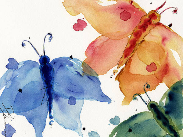 Painting - Three Moths by Dawn Derman