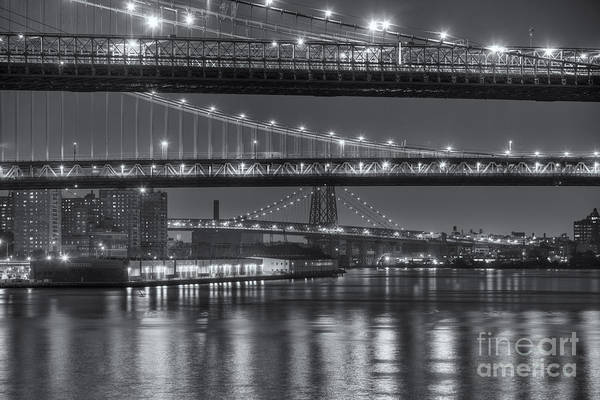Photograph - Three New York Bridges II by Clarence Holmes