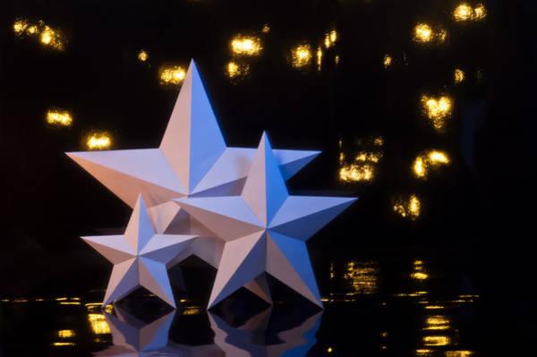 Photograph - Three Paper Cut Stars by U Schade