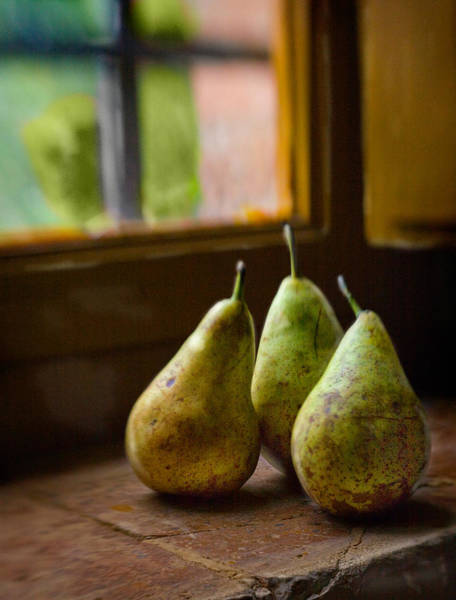 Photograph - Three Pears In The Window by Bob Coates
