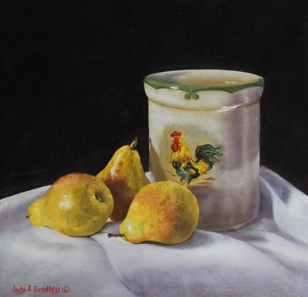 Painting - Three Pears by Judy Bradley