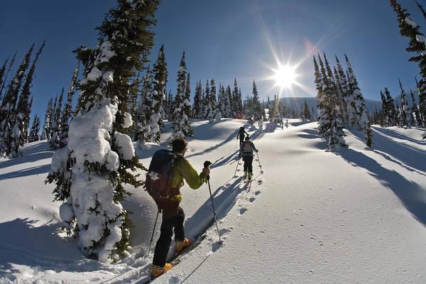 Jasmin Photograph - Three People Ski Touring,  British by Whit Richardson