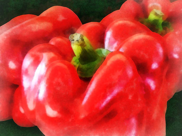 Photograph - Three Red Peppers by Susan Savad