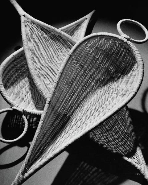 Furniture Photograph - Three Reed Baskets by Martin Bruehl