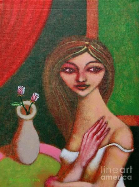 Wall Art - Painting - Three Roses by Paul Hilario