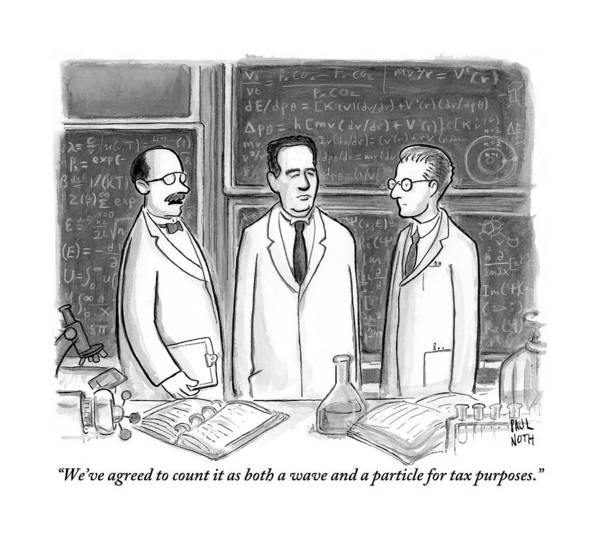 May 30th Drawing - Three Scientists In A Lab by Paul Noth