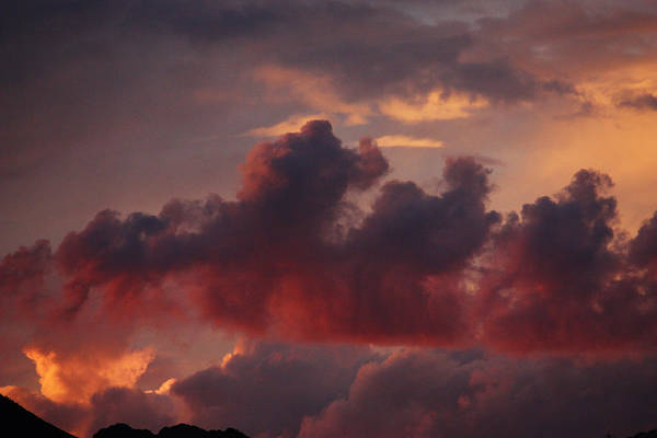 Photograph - Three Sister Clouds by Dennis Galloway