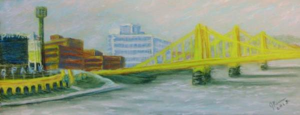 Wall Art - Pastel - Three Sisters At Pnc Park by Joann Renner