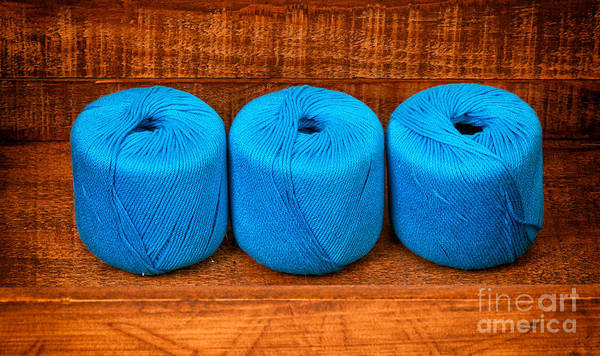 Photograph - Three Skeins Of Knitting Yarn by Les Palenik