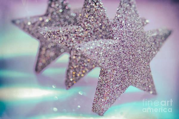 Weihnachten Photograph - Three Stars by Sabine Jacobs