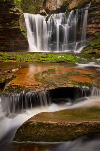 Photograph - Three-step Cascade by Michael Blanchette
