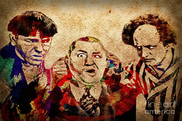 Photograph - Three Stooges Graffiti by Gary Keesler