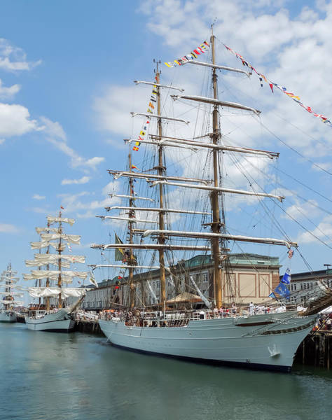 Photograph - Three Tall Ships by Robert Mitchell