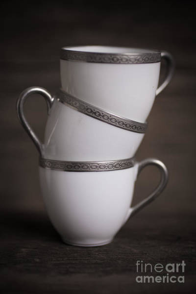 Photograph - Three Tea Cups by Edward Fielding